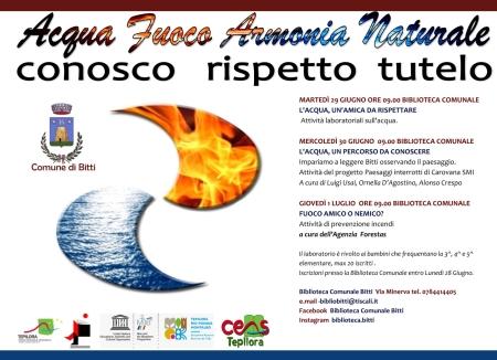 Acqua Fuoco armonia naturale : Biblioteca Comunale Bitti e CeasTepilora